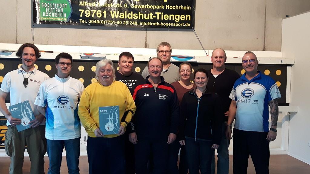 Gruppenbild der Teilnehmer der Fortbildung zum Trainer des DFBV